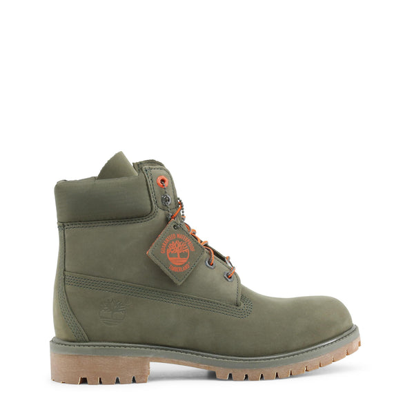 Timberland - PREMIUM-BOOT Olive Green Mens Leather Boots