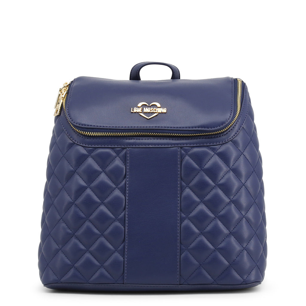Love Moschino Womens Blue Quilted Backpack