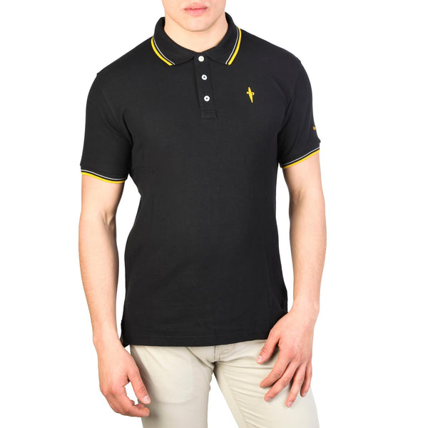 Cesare Paciotti Mens Black Polo