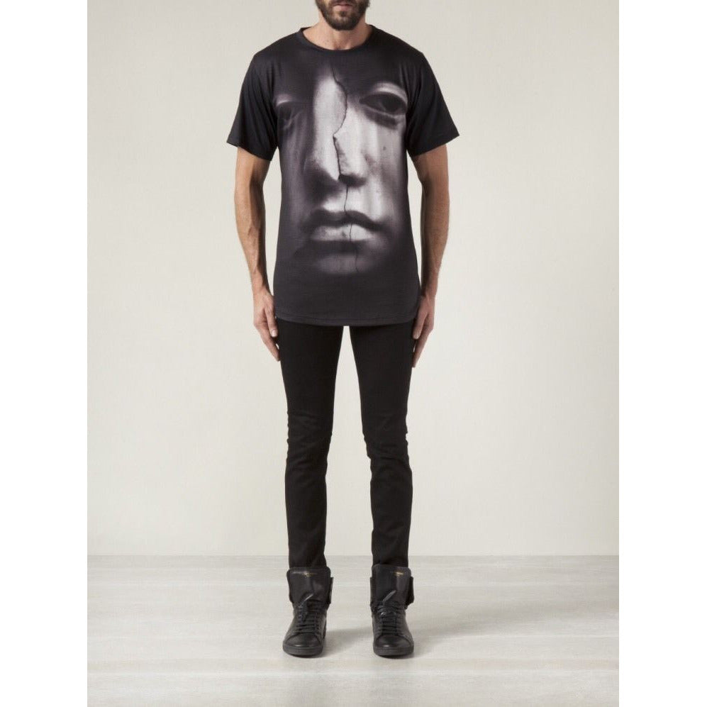 En Noir Cracked Face Mens T-Shirt / Tee - Sovranity