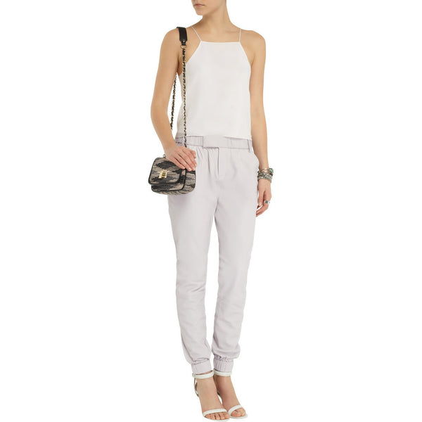 J Brand Leather Pants Color Light Grey / Smoke - VarietasPurses - 1