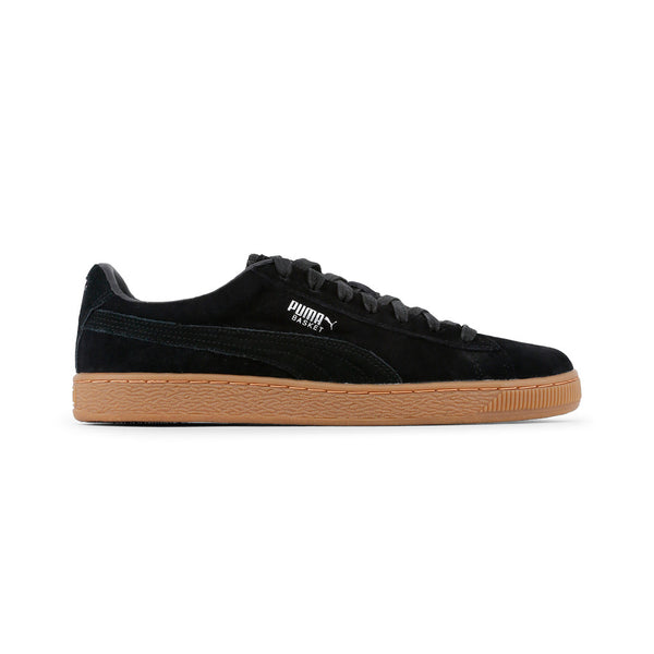 Puma Black Suede Classic Sneakers With Gum Sole