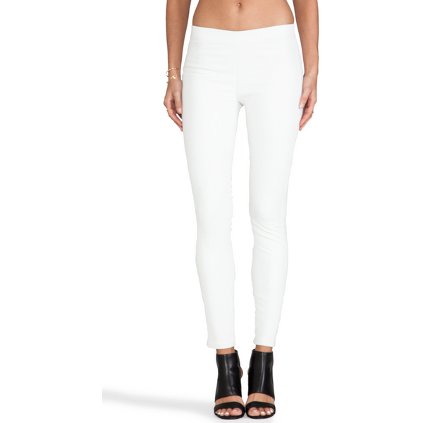 J BRAND PULL ON WHITE LEATHER LEGGINGS EDITA - Sovranity