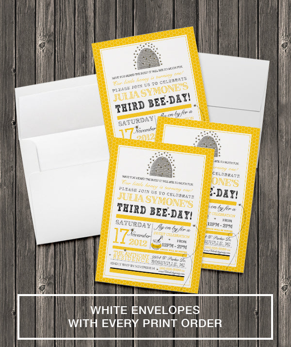 5x7 invitation printing includes white envelopes pretty inviting