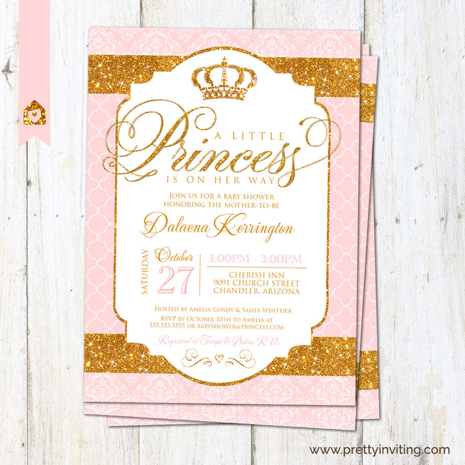 davidhowald and baby of gold pink invitation com fresh shower invitations