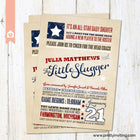 All-Star Little Slugger Vintage Baseball Baby Shower Invitation, Sports Invite, Boy Baby shower - Printable