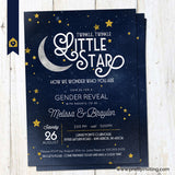 Twinkle Little Star Gender Reveal Party Invitation