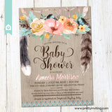 Boho Dreamcatcher Baby Shower Invitation