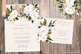 Aurora Elegant Floral Wedding Invitation Set - Oil painted floral
