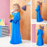 The Tropical Little Blossom Celebrations Jubah - Blue