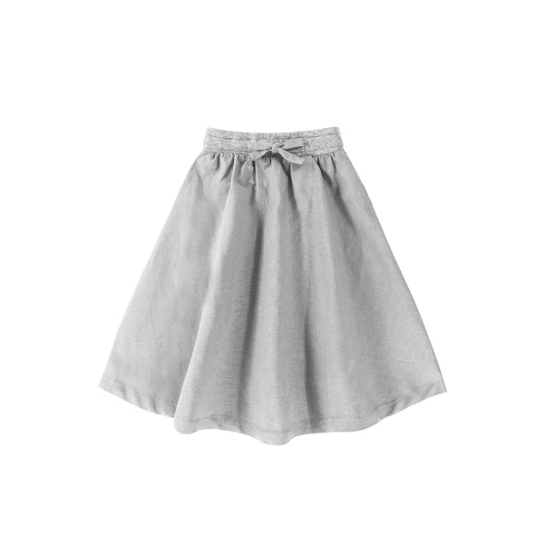 Baju kanak-kanak padi long cotton skirt in grey