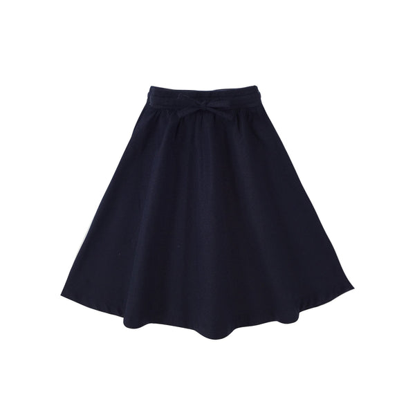 Baju kanak-kanak Padi long cotton skirt in dark blue biru