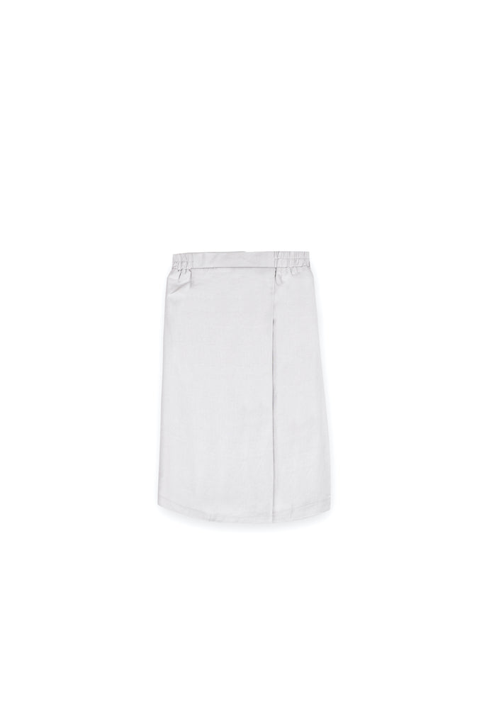The Langit Folded Skirt - Light Grey
