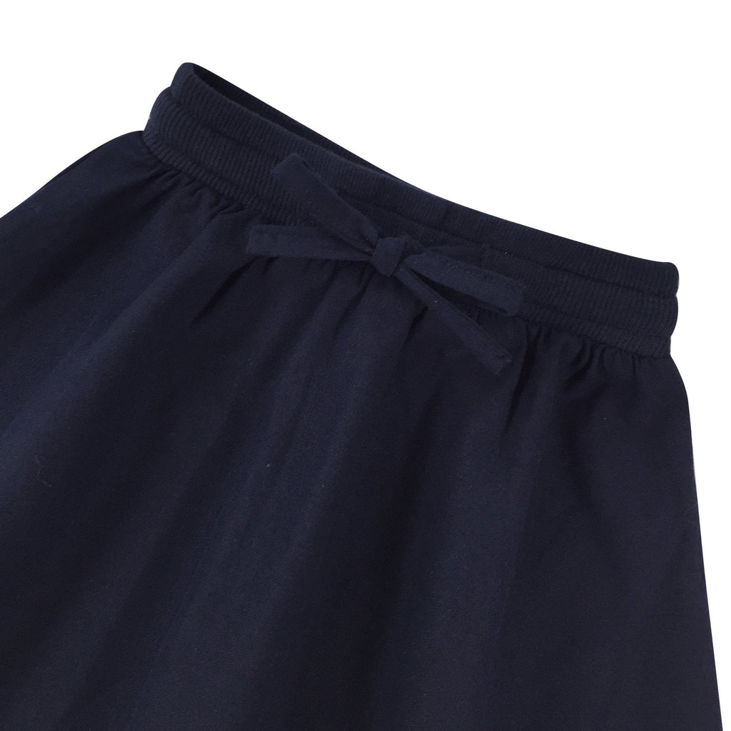 Padi long cotton skirt in dark blue biru kanak-kanak