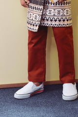 The TENANG Tapered Pants - Brick Red