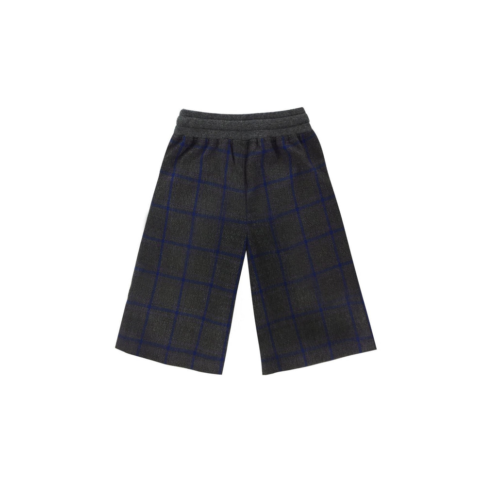 Scottish plaid unique design unisex cotton pants with pockets for kids