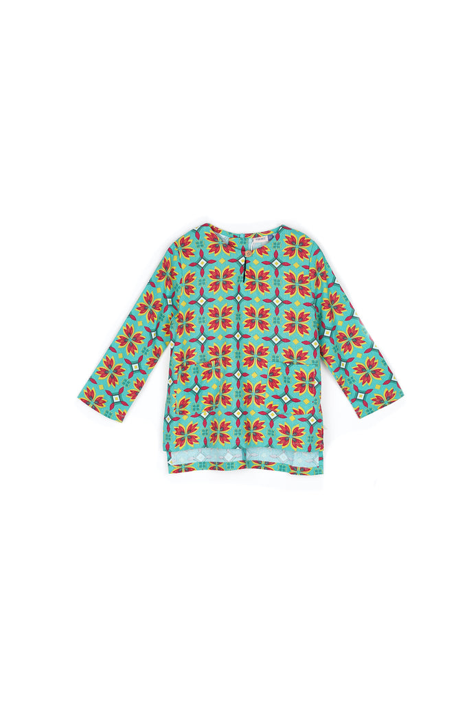 The Spring Kurti With Pockets - Spring Garden Print