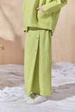The Balik Buttons Folded Skirt - Lime Green
