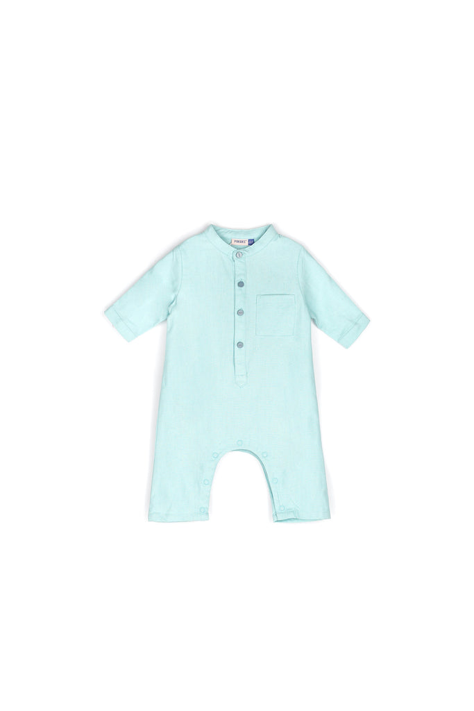 The Nari Babies Jumpsuit - Light Blue