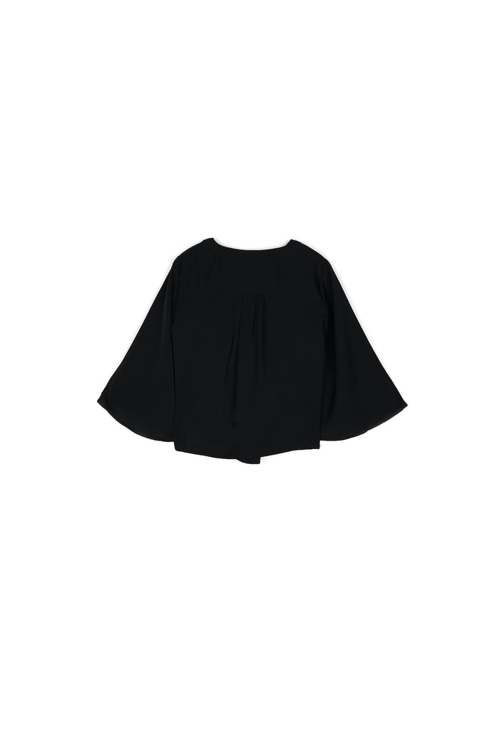 The Nari Butterfly Blouse - Black