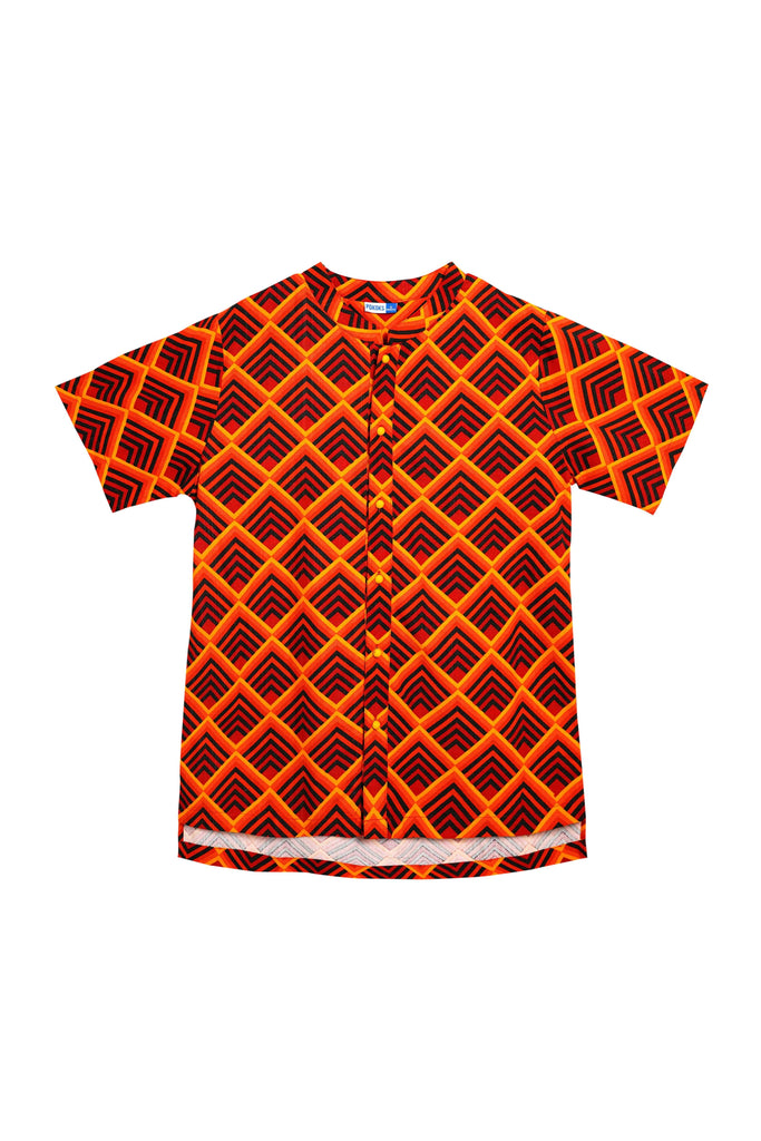 The Spring Men Mandarin Top - Ang Ang Print - POKOKS.COM
