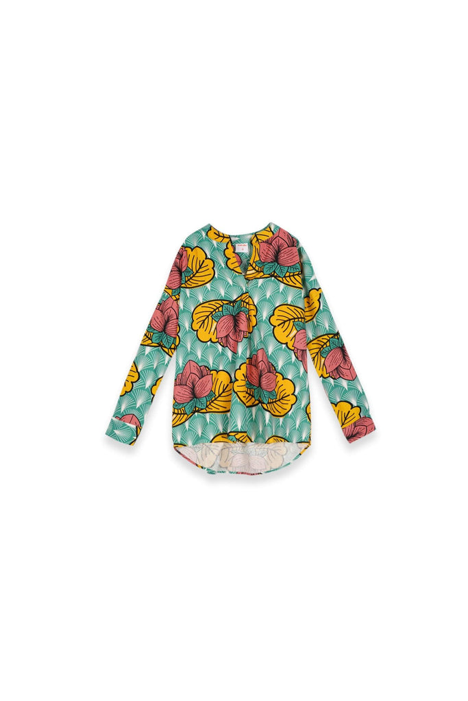 The Teratai Women Boxy Blouse - Magic Lotus - POKOKS.COM