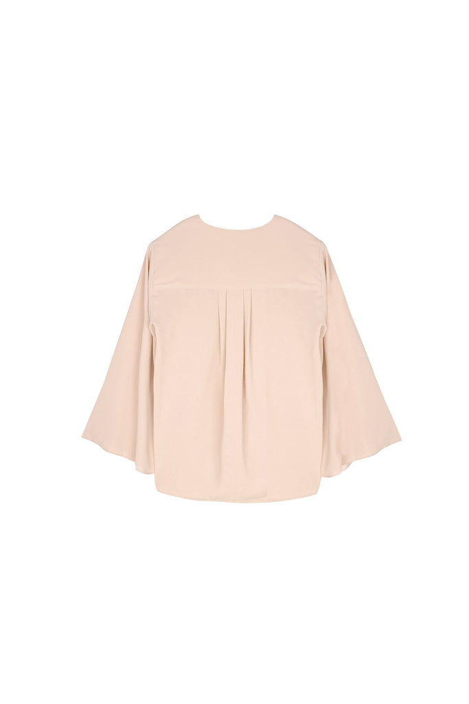 The Nari Women Butterfly Blouse - Nude