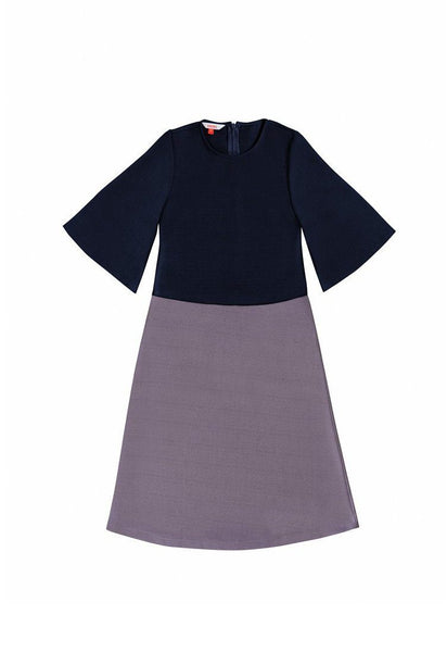 The Serai Bicolor Jubah - Dark blue / Violet