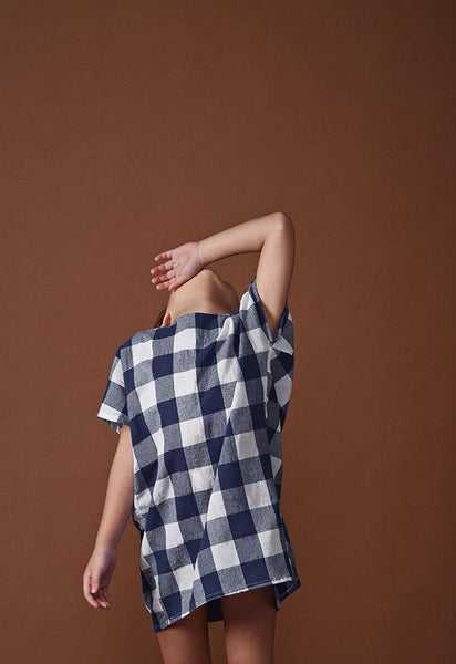 The Ingat Checked Dress - Blue Checked