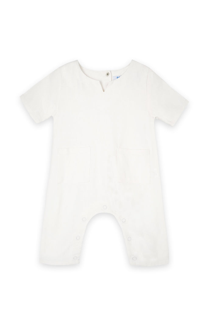 The Bangun Babies Pair Pockets Jumpsuit - White