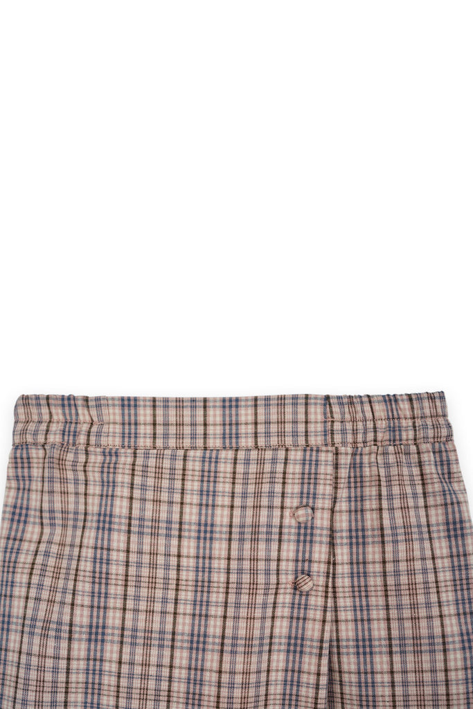 The Bangun Buttons Folded Skirt - Checked Box
