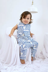 The Bangun Babies Sleeveless Jumpsuit - Nami Print