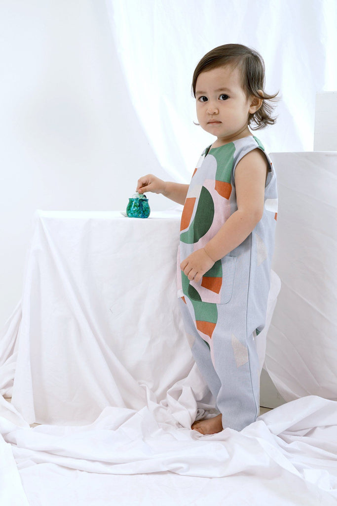 The Bangun Babies Sleeveless Jumpsuit - Lumi Print