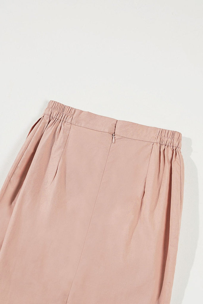 The Timur Women Overlay Skirt - Mustard