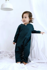 The Bangun Babies Pair Pockets Jumpsuit - Emerald Green