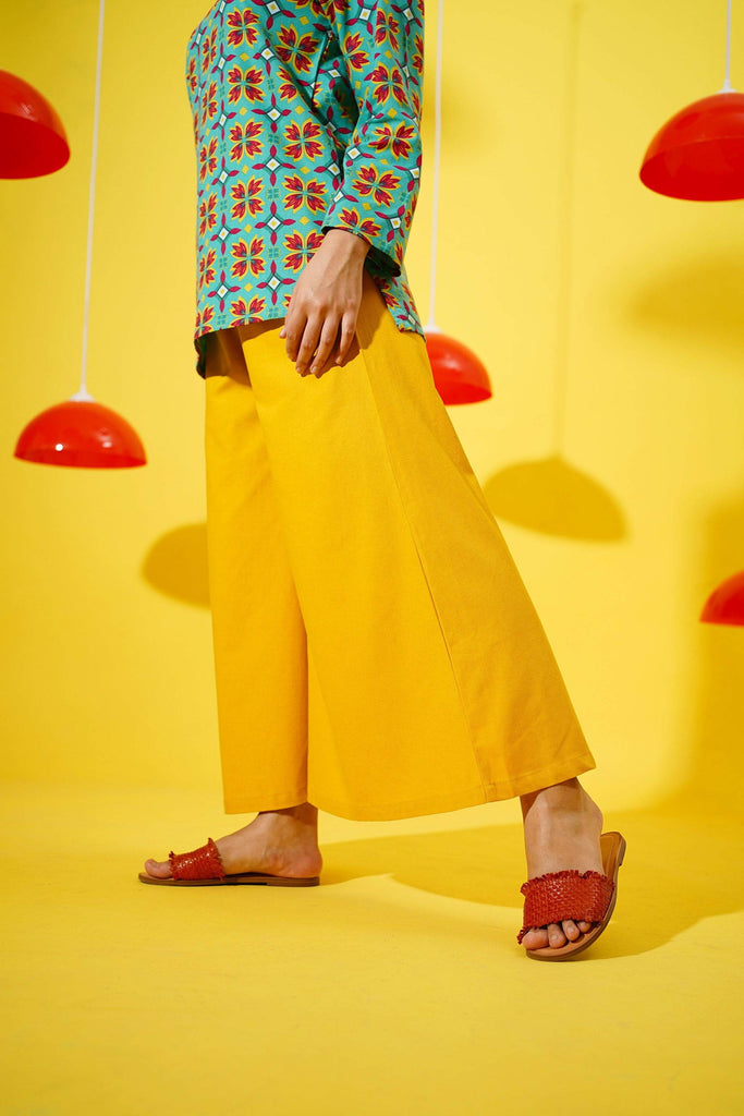 The Spring Super Wide Leg Pants - Mustard