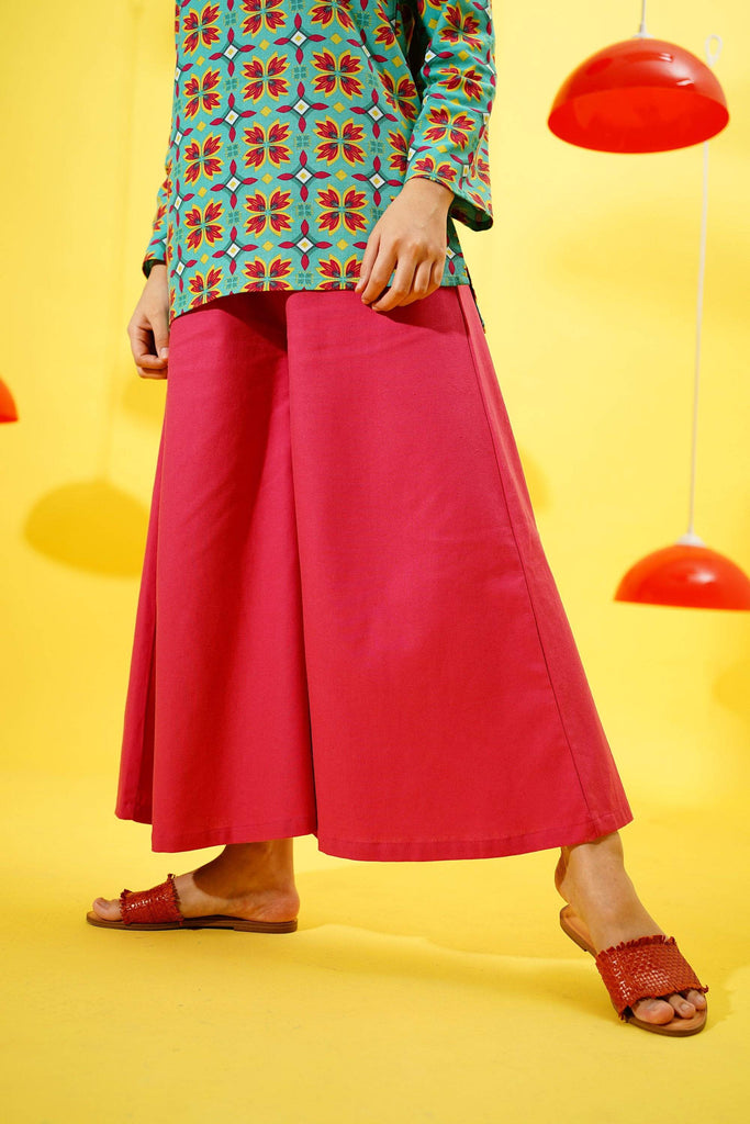 The Spring Super Wide Leg Pants - Rose - POKOKS.COM