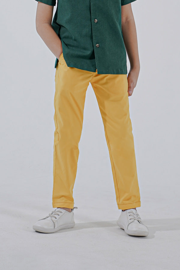 The Perfect Slim Fit Pants - Mustard