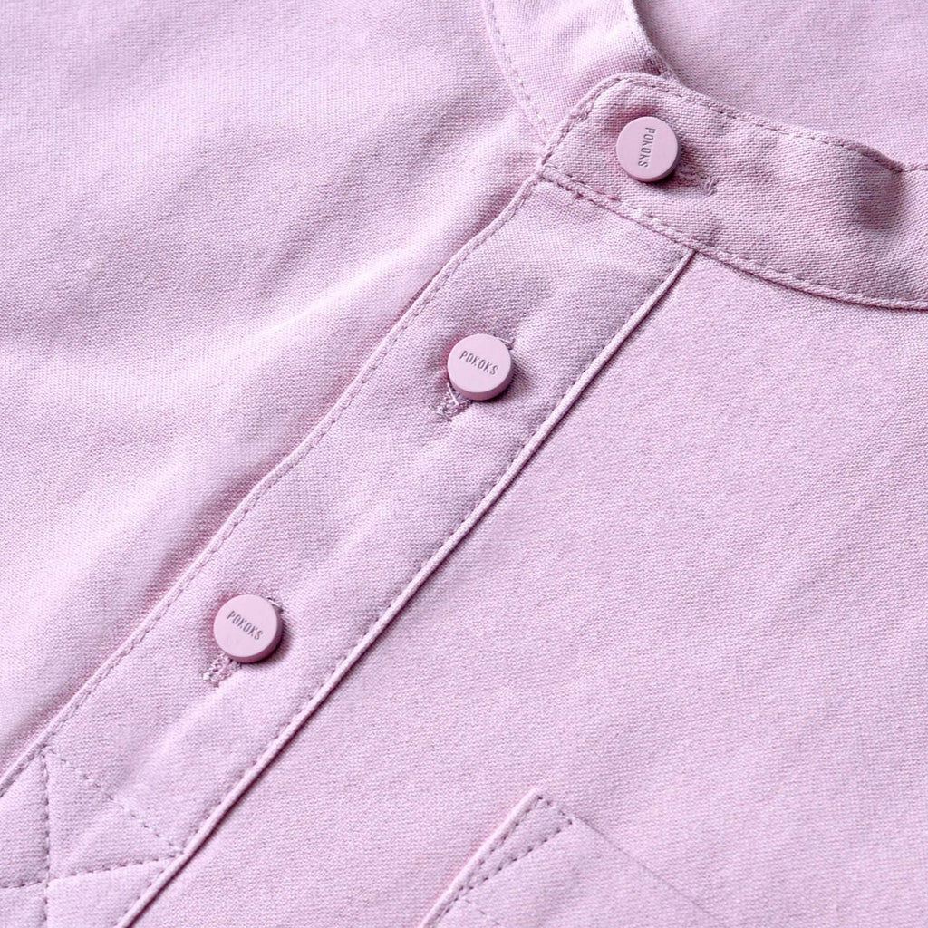 The TENANG Mandarin Kurta - Dusty Pink