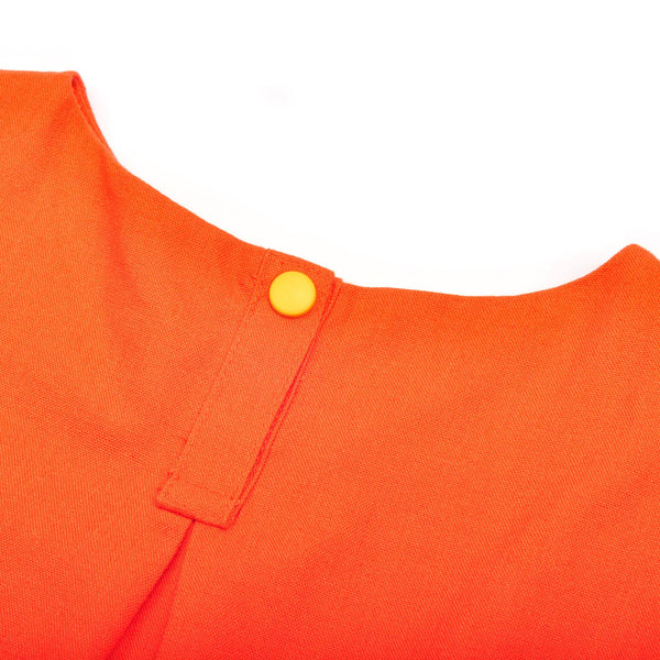 The Pelangi Babies Mini Kurung - Orange with Chatters