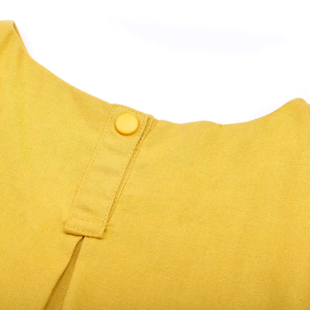 The Pelangi Babies Boxy Top - Mustard