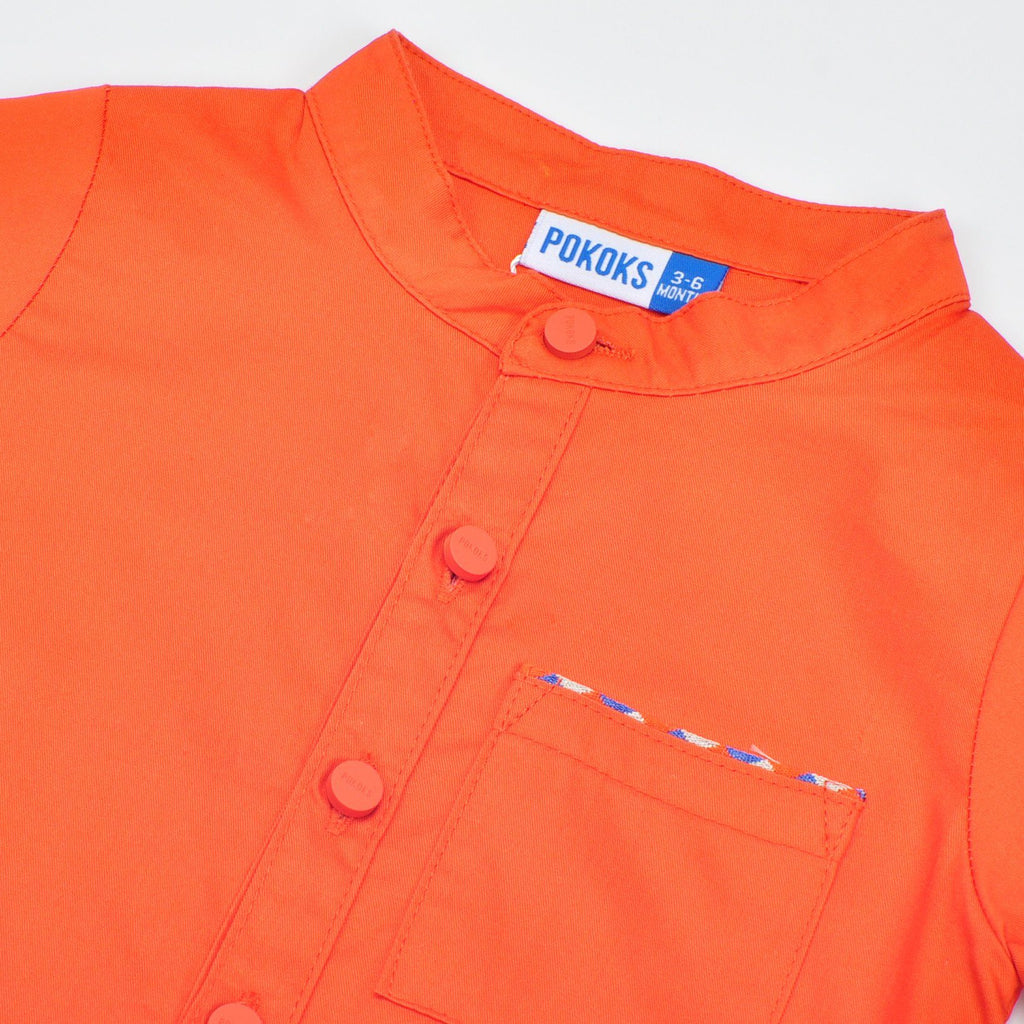 The Pelangi Babies Jumpsuit - Orange