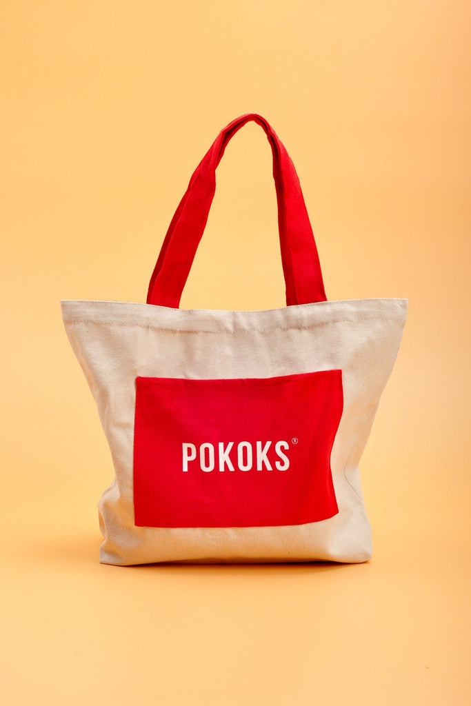 POKOKS Canvas Bag - Red Pocket