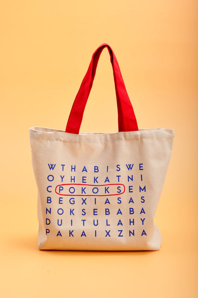 POKOKS Canvas Bag - Crossword