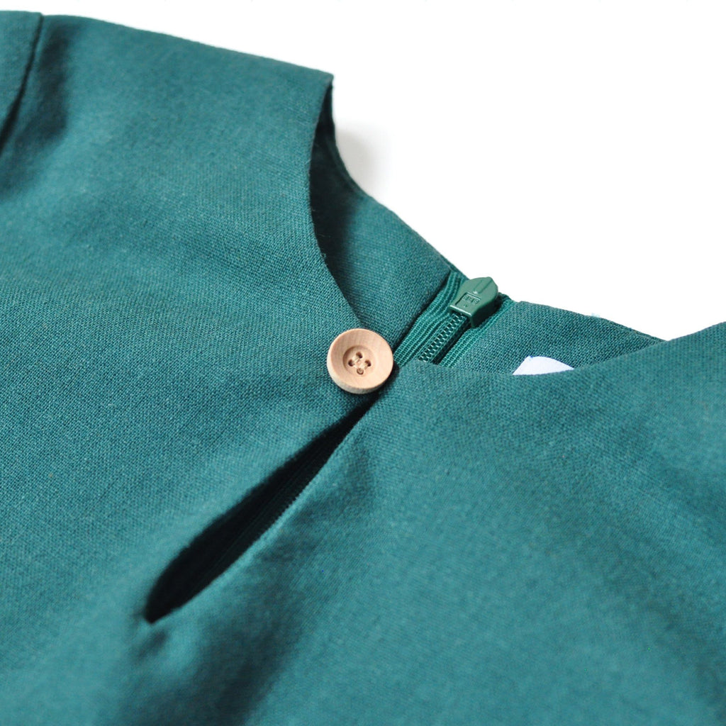 The KITA Mini Kurti - Emerald Green