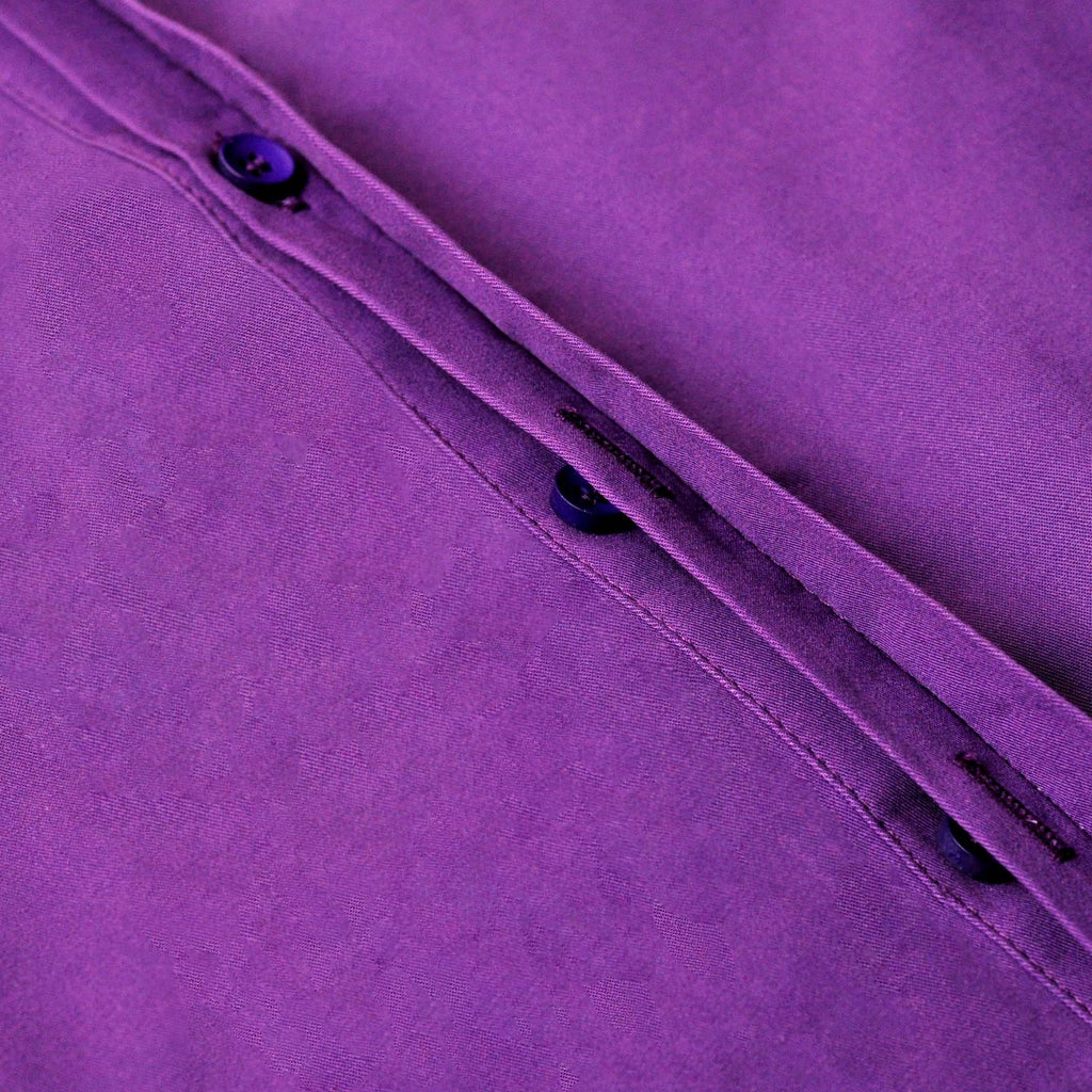 The TENANG Men Minimalist Shirt - Purple