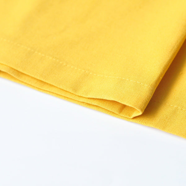 The KITA Poncho Baju Kurung - Sky Blue with Mustard Yellow