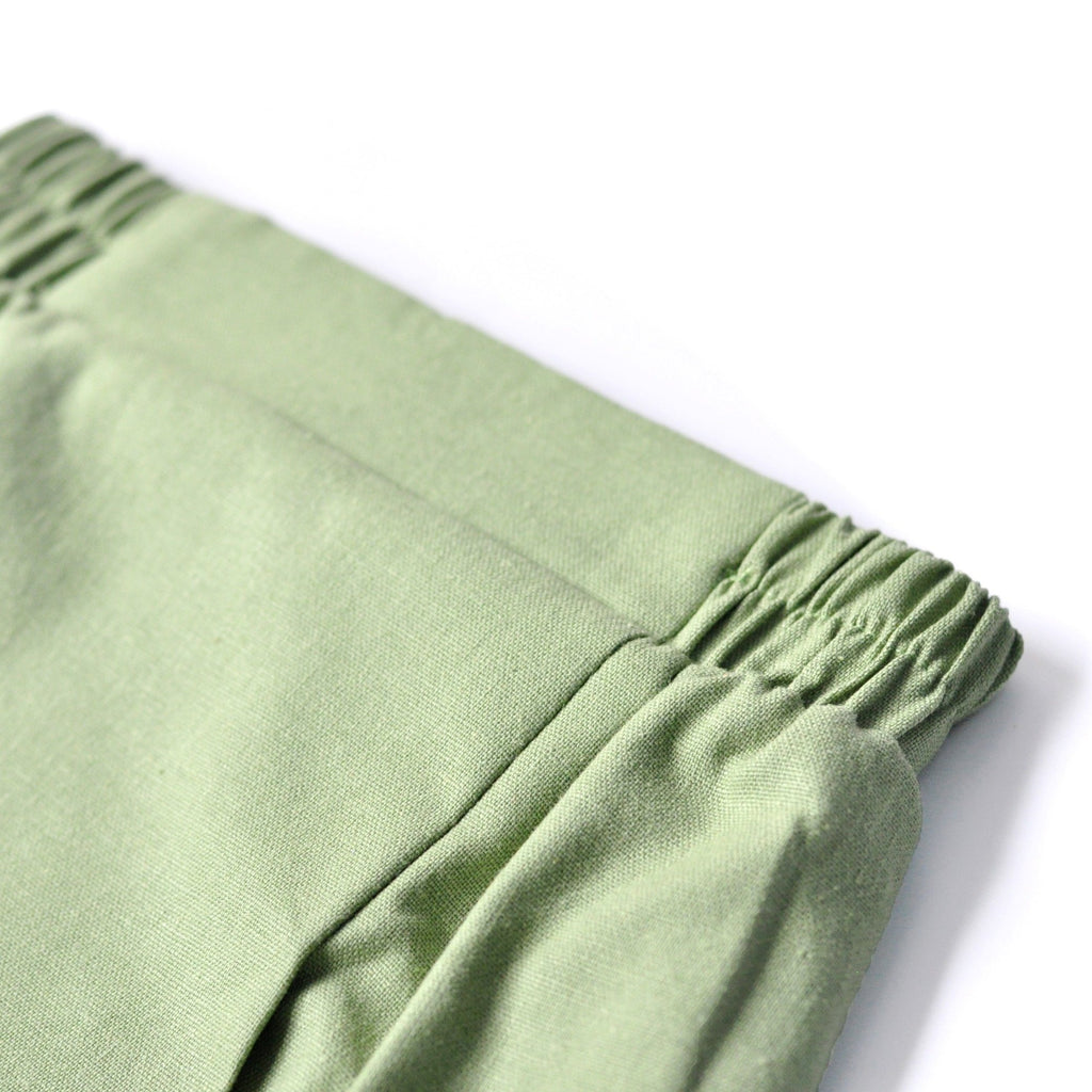 The KITA Folded Skirt - Moss Green