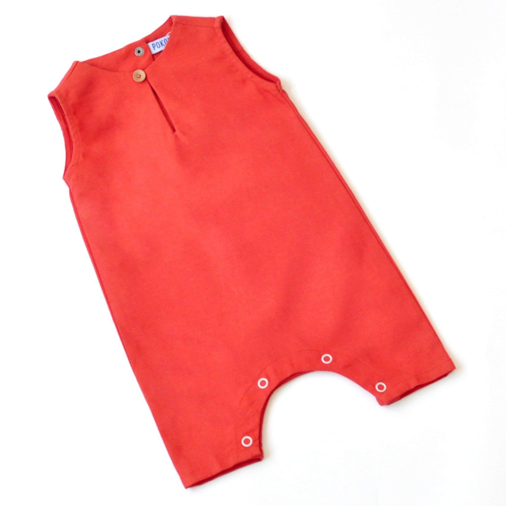 The KITA Babies Jumpsuit - Lobster Orange