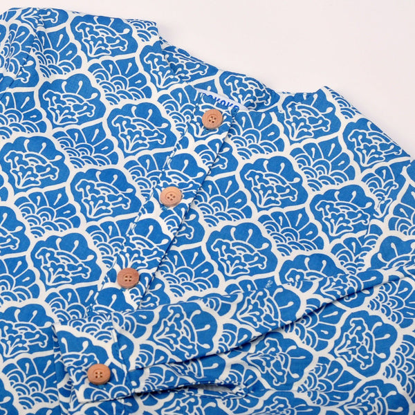 The Pulau Men Long Sleeve Batik Kurta - Langkawi Print